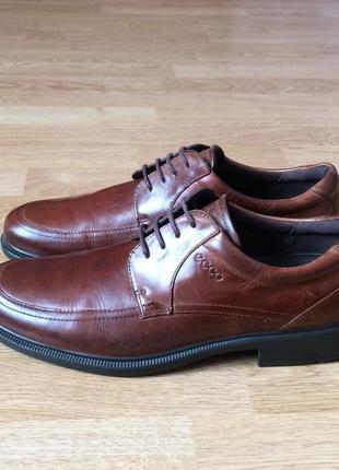 Кожаные туфли ecco 43 размера в отличном состоянии