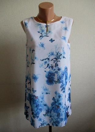 Нежная блуза-туника в цветочный принт meggan