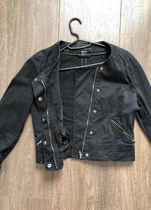 Джинсовый пиджак жакет джинсовка джинсовая куртка