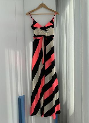 Сарафан, платье в полоску