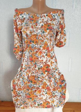 Цветочное  платье на плечи befree