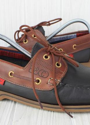 Топсайдеры b&co кожа италия 43р туфли мокасины