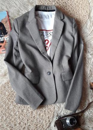 Стильный теплый пиджак mango . пиджак в гусиную лапку