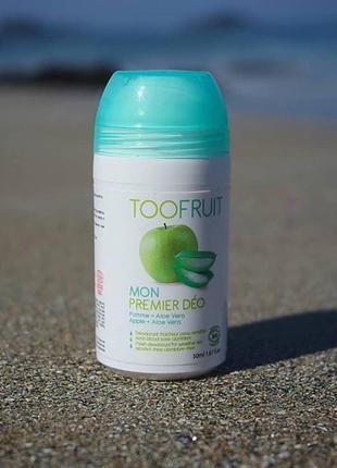 Toofruit organic дезодорант с ароматом яблока, 50 мл для детей и взрослых