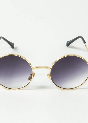 Очки круглые солнцезащитные очки фиолетово-серый