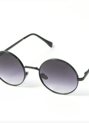 Очки круглые солнцезащитные очки  черный