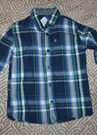 Рубашка мальчику rebel на 6-7 лет рост 122 см хлопок англия