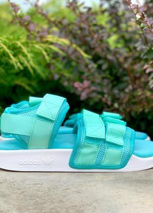 Сандалии adidas adilette sandals mint босоножки босоніжки жіночі