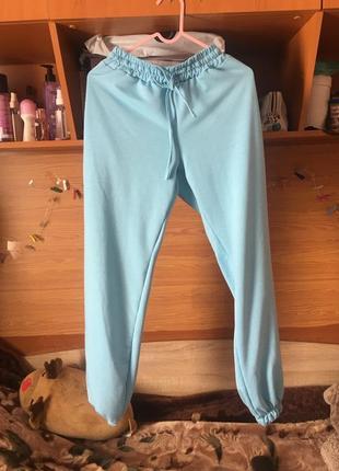 Джоггеры штаны голубого цвета новые