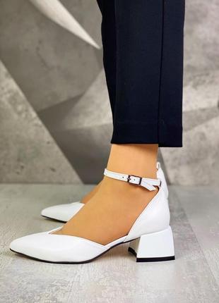 ❤ женские белые кожаные туфли ❤