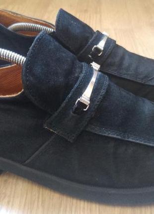 Туфли мокасины черные лоферы топсайдеры суперлегкие