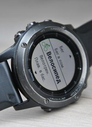 Часы спортивные garmin fenix 3 hr sapphire б/у