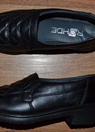 Р. 33 - 21 см. оригинал-rohde. туфли закрытые, мокасины, фирменные.