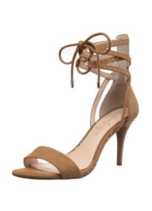 Jessica simpson замшевые босоножки на шпильке на шнуровке бренд из сша