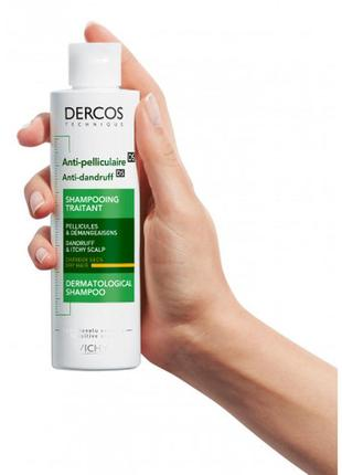 Шампунь от перхоти для сухих волос vichy dercos anti-dandruff shampoo for dry hair