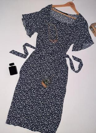 Роскошное натуральное  миди платье цветочный принт/платье  большой размер/батал1 фото