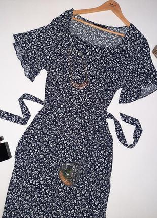 Роскошное натуральное  миди платье цветочный принт/платье  большой размер/батал2 фото