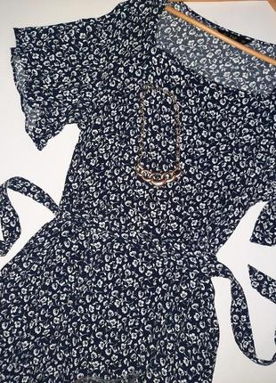 Роскошное натуральное  миди платье цветочный принт/платье  большой размер/батал3 фото