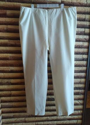 Шикарные белые штаны-брюки на большой розмер.