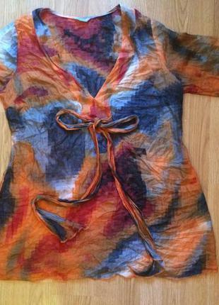 Шелковая блуза туника marks & spencer