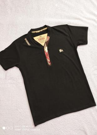 Классная футболка бренда burberry