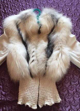 Меховая жилетка (кожаная куртка)