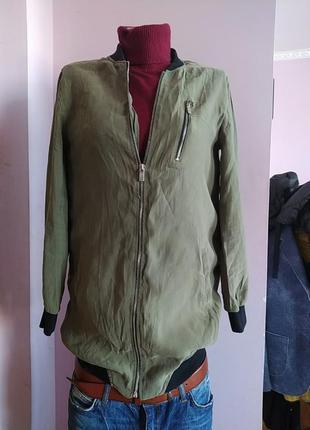 Куртка бомбер ветровка женская, s, bershka