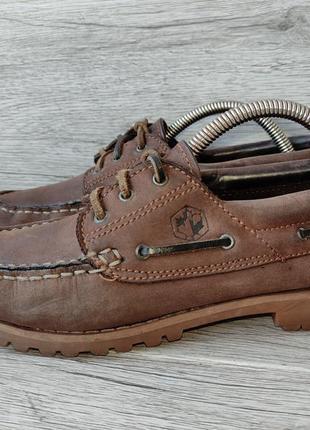 Lumberjack 38p туфли мужские топсайдеры кожа италия