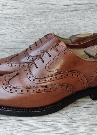 Saxsone 42p туфли мужские броги кожа англия