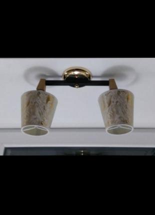 Люстра на 2 лампы с абажурами