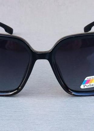 Christian dior очки женские солнцезащитные черные с серым поляризированые2 фото