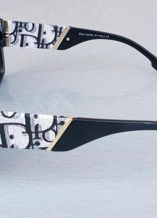 Christian dior очки женские солнцезащитные черные с серым поляризированые3 фото
