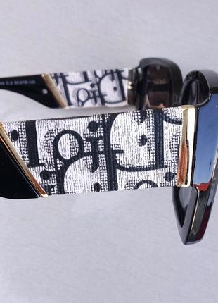 Christian dior очки женские солнцезащитные черные с серым поляризированые8 фото