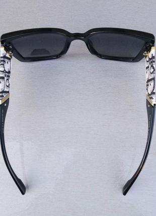 Christian dior очки женские солнцезащитные черные с серым поляризированые5 фото