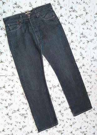🎁1+1=3 крутые плотные прямые темно-синие джинсы levis оригинал, размер 48 - 50