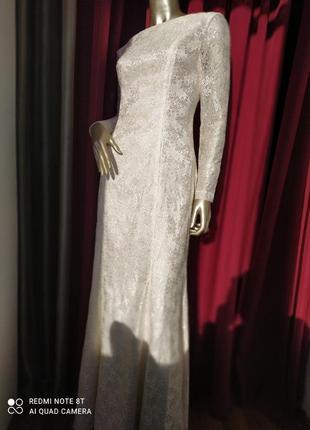 🛍💖💞шикарное мечта платье атлас с ажуром цвета шампань 🍸🍸🍸