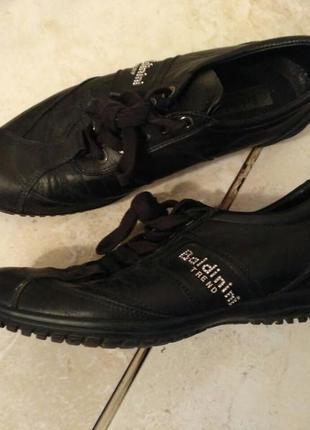 Кожаные кроссовки-туфли baldinini