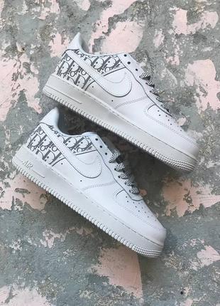 Кроссовки женские nike air force 1 x dior white