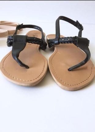 New look босоніжки босоножки сланцы сандалии с заклёпками2 фото