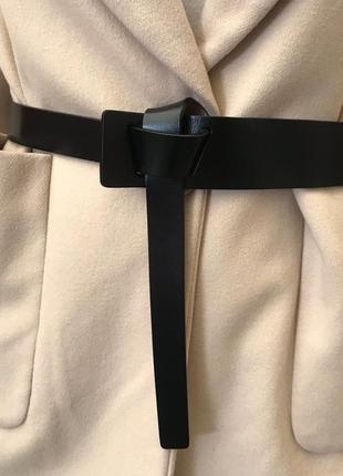 Ремень, пояс кожаный черный