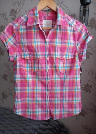Рубашка в клетку с коротким рукавом