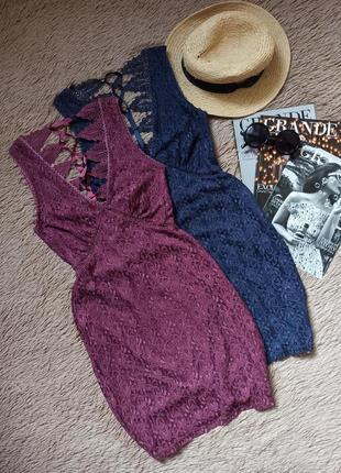 Шикарное кружевное платье со шнуровкой на спинке/плаття/сукня