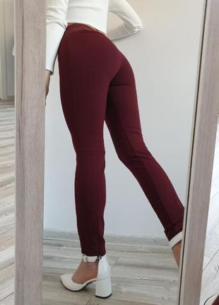 Шикарные качественные брюки штаны с высокой посадкой от zara