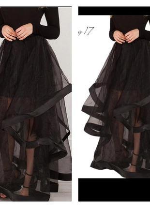 Вечерняя юбка с валанами
