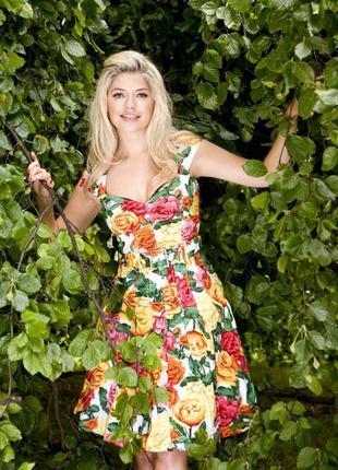 Распродажа платье karen millen c ярким принтом и поясом c cайта asos2 фото