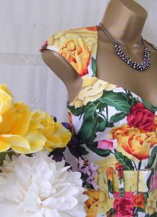 Распродажа платье karen millen c ярким принтом и поясом c cайта asos3 фото