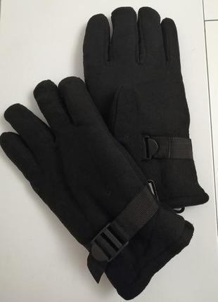 Перчатки самые тёплые, толстые, двойные, флис, мех