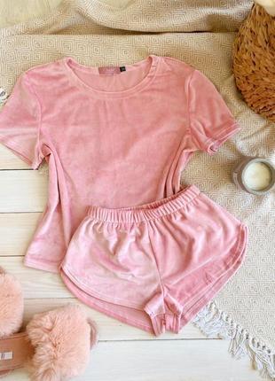 Женская плюшевая пижама