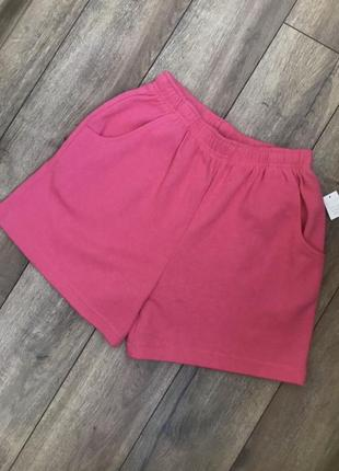 Яркие розовые трикотажные шорты бермуды