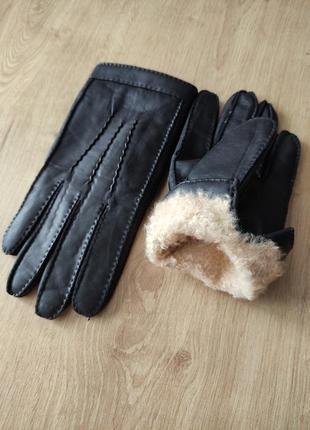 Мужские кожаные перчатки на натуральной овчине, s
